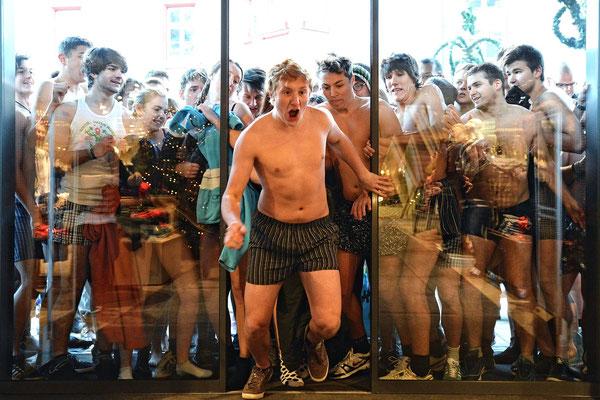 Marktredwitz | Ansturm in Unterhosen