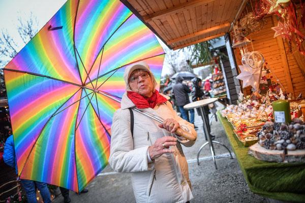Weihnachtsmarkt im Regen