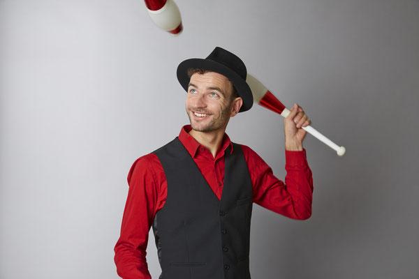 Jongleur Kaspar Tribelhorn