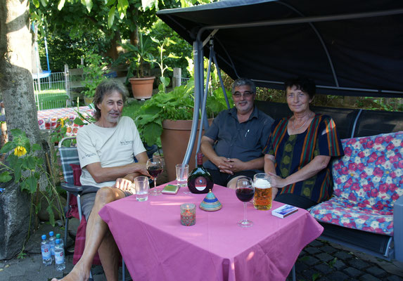 Im Garten bei Holger und Doris