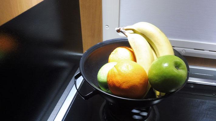 """Das """" Rechaud"""" dient bei Nichtgebrauch als Früchteschale"""