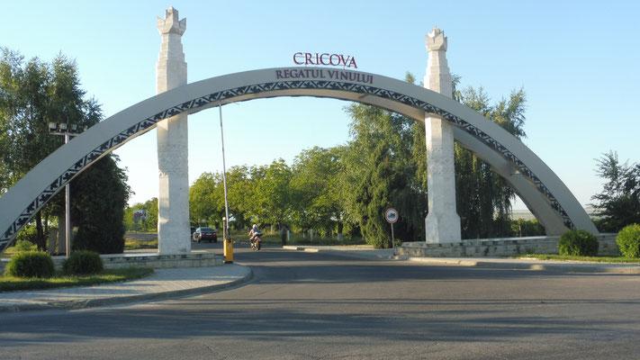 Hier geht es rein nach Cricova.