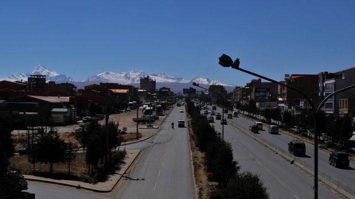Wir sind oben in El Alto