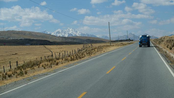 die Cordillera Blanca vor uns liegen