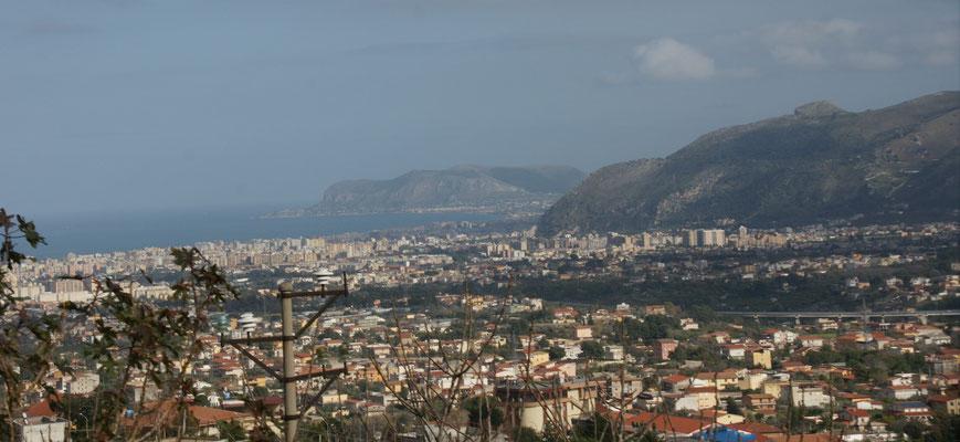 Nochmal Blick über Palermo