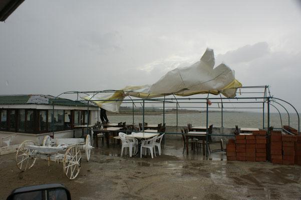 Karasu. Das Wetter hat uns mit seiner vollen Wucht eingeholt