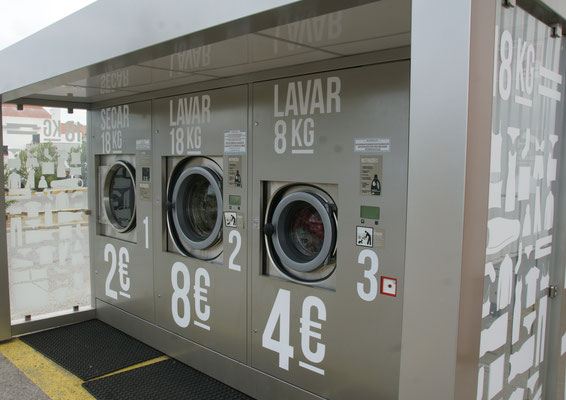 Die Waschstation beim Intermarché in Evora