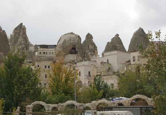In Göreme werden die Höhlenwohnungen noch richtig genutzt.