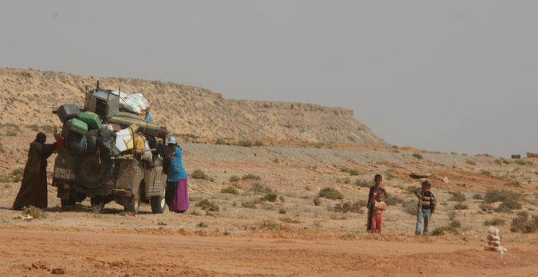 Die Nomaden haben gepackt