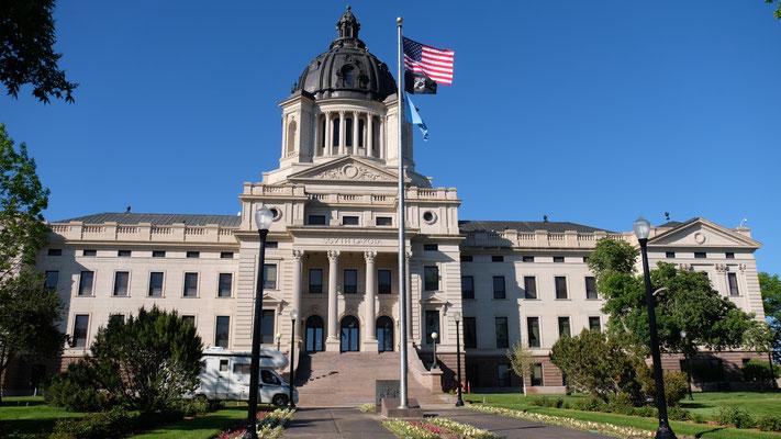 Es ist das Capitol von Pierre, das Regierungsgebäude