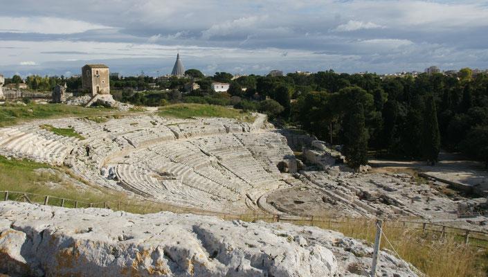 Das griechische Theater in Neapolis