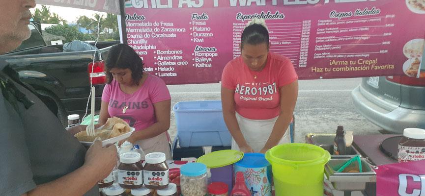 Nicht nur mexikanische Spezialitäten finden ihre Liebhaber. Crepe