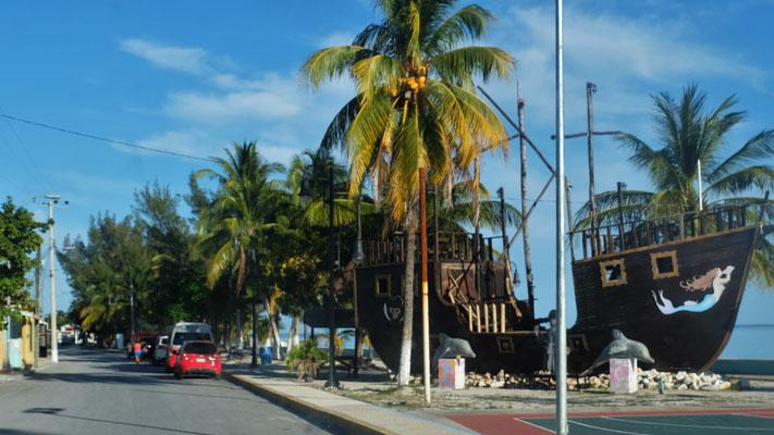 Auf Isla Aguada stellen wir uns....