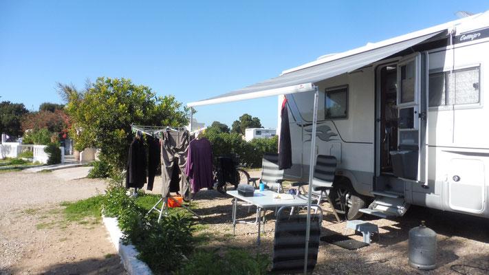 Camping Sidi Kaouki Beach, die Wäsche hängt