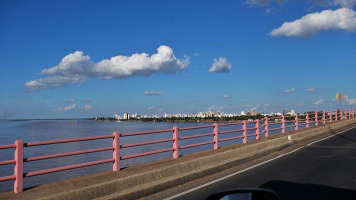 Erster Blick auf die Stadt Corrientes