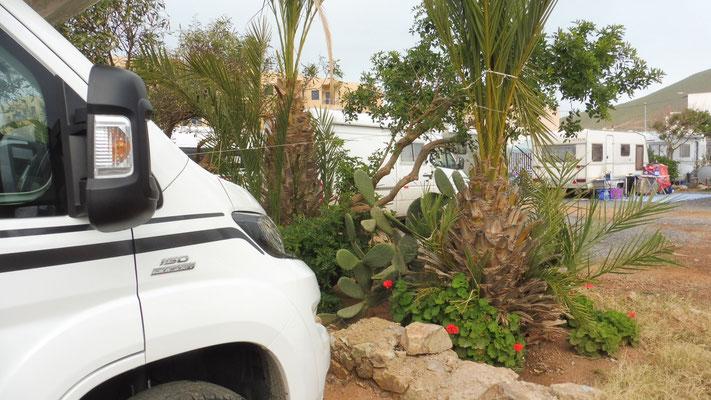 Unser Stellplatz in Sidi Ifni