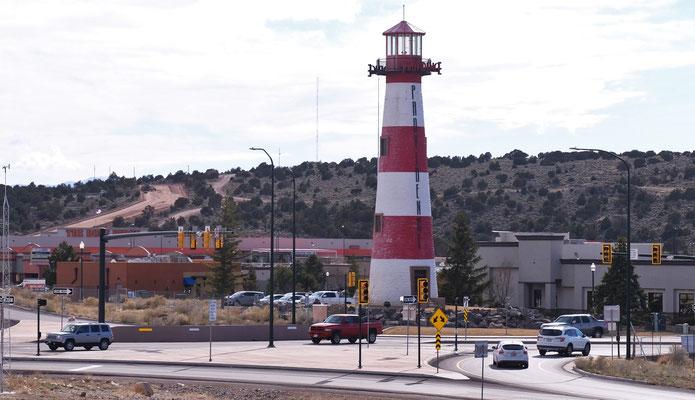 Ein Leuchtturm mitten auf dem Lande