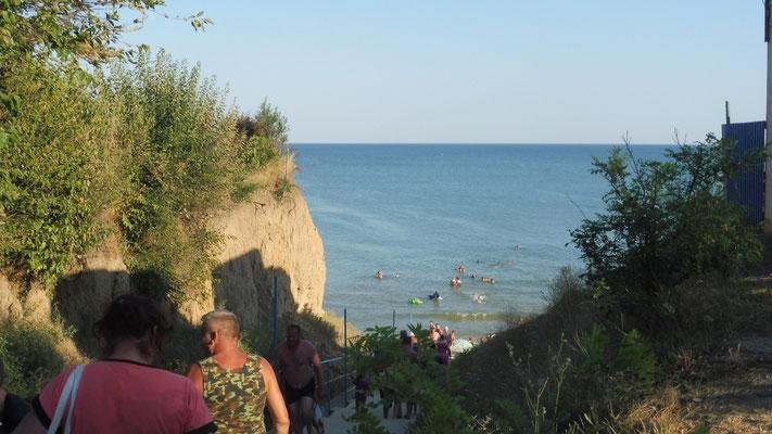 Wir haben das schwarze Meer erreicht in Lebedivka