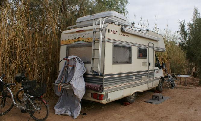 Auf dem Camping Sindibad noch ein Plätzchen ergattert