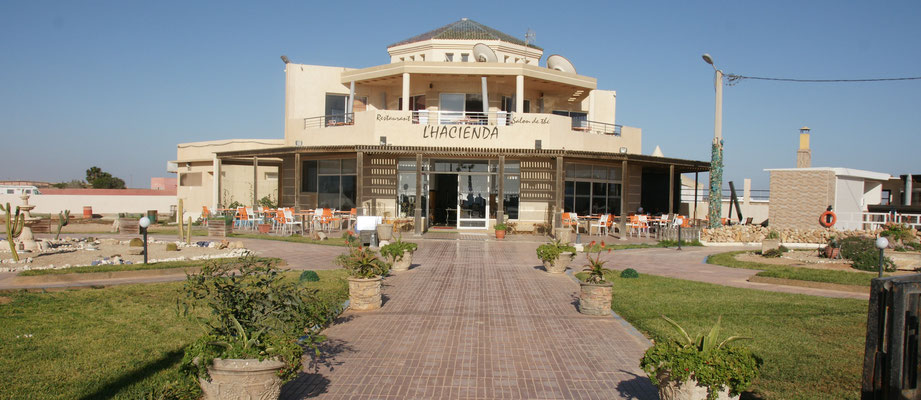 Das Restaurant Hacienda am Strand in Dakhla