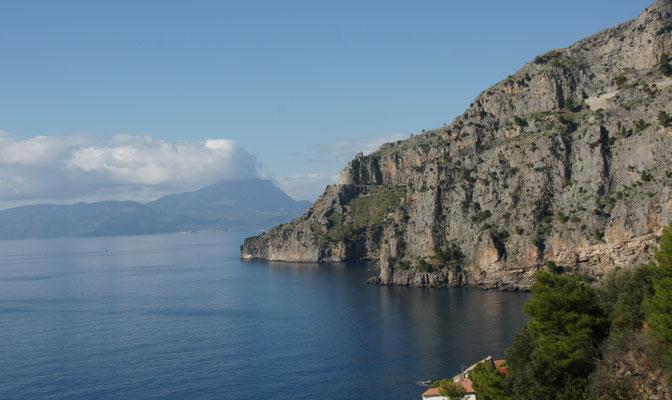 Eine der schönsten Küstenabschnitte Italiens. Golfo di Policastro