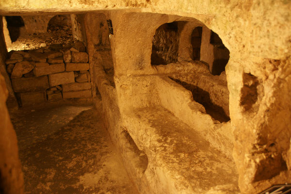 Die Katakomben unterhalb der St. Paul Kathedrale...