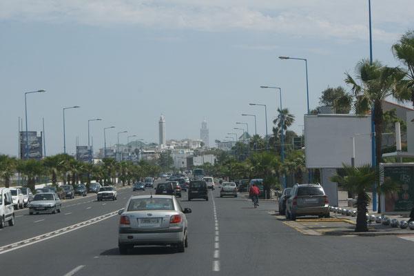 Einfahrt in Casablanca