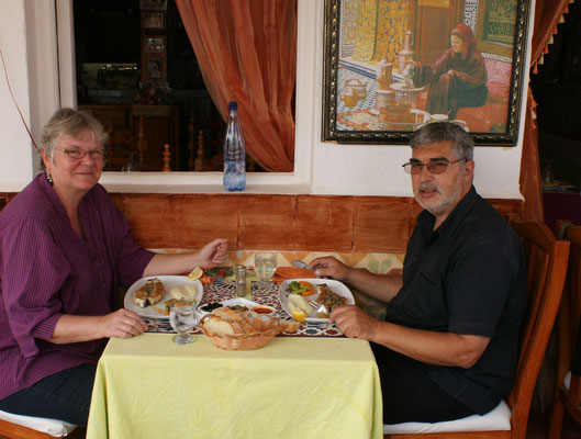 Stärkung im Restaurant Nomad