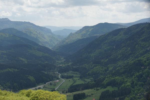 Blick zurück aufs Valle roncale
