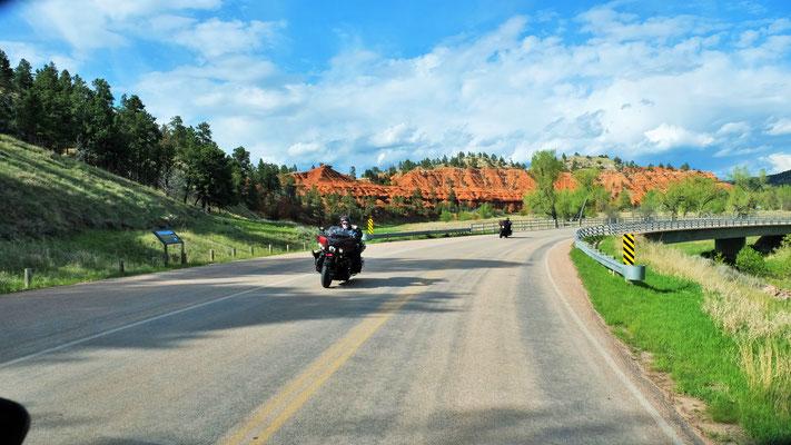 Heute am Memorial Day sind auch viele Motorradfahrer unterwegs