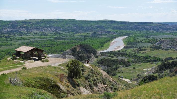 Nochmals einen Blick runter zum little Missouri River