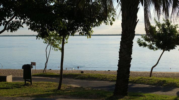 Im Süden die Beach. Ich kühle mich ab im Rio Parana.
