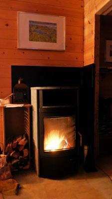 Am Abend gibt es ein warmes Feuerchen