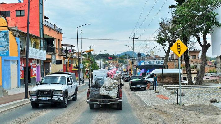 Die Strassen in Mexiko sind schmaler, aber was soll's auch das Leben ist vielfältiger