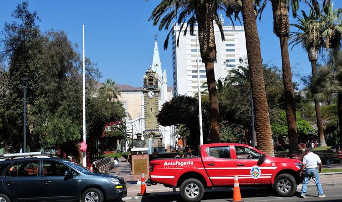 Der Hauptplatz in Antofagasta