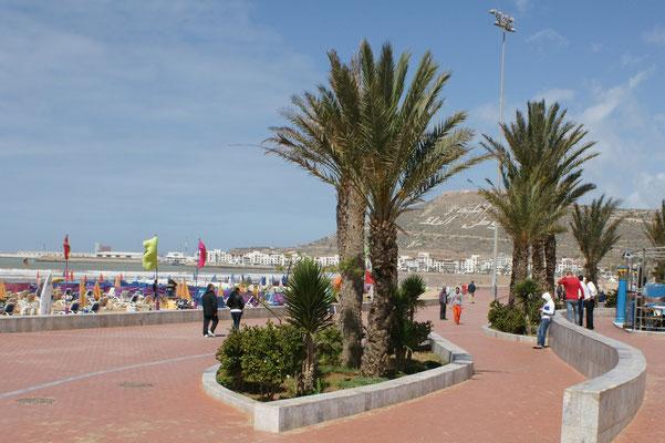 Die Promenade von Agadir