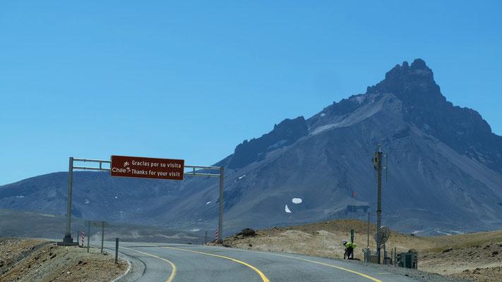 Tschüss Chile für ein paar Tage, bis wir über einen anderen Pass die Anden überqueren