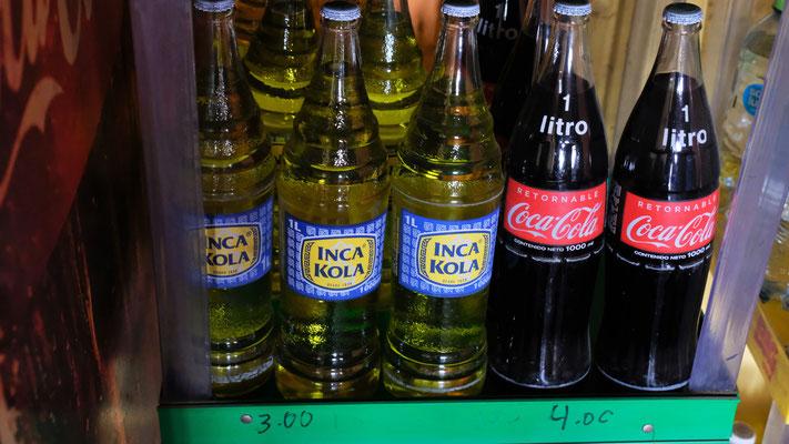 Inka Cola nicht nur in Peru. Uns schmeckt es nicht.
