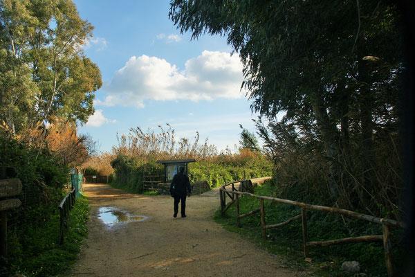 Wir sind drin im Naturreservat Oasis of Vendicari