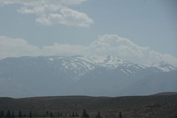 Schnee auf dem hohen Atlas
