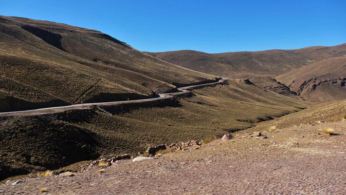 Alles Asphalt die gesamten 360 km bis Sucre