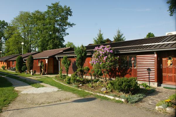 Auch hier gibt es Holzhäuser zum mieten