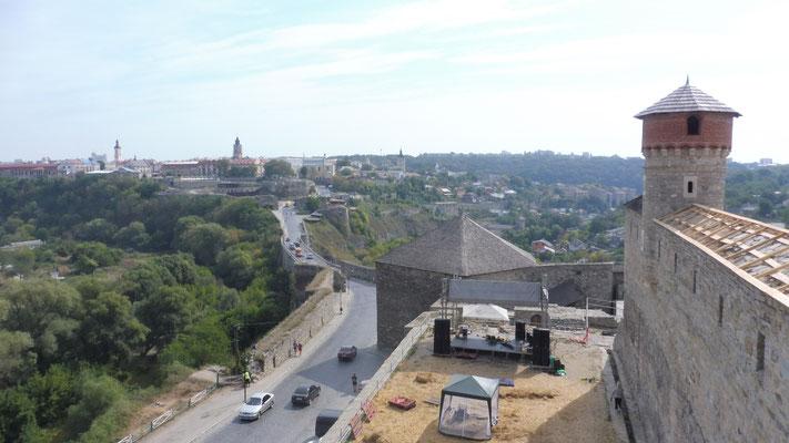 Blick von der Festung in die Stadt