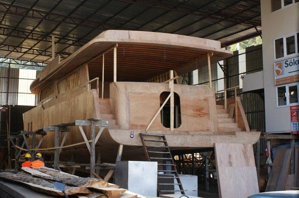 Hier entsteht eine neue Yacht