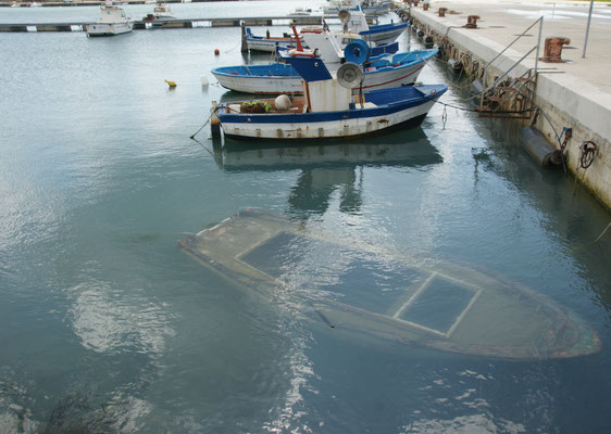 Ein U-Boot in Porto Palo