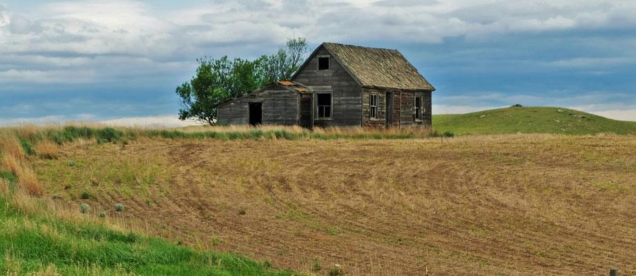 Verlassene Farmgebäude...