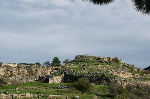 Blick auf das antike Mykene
