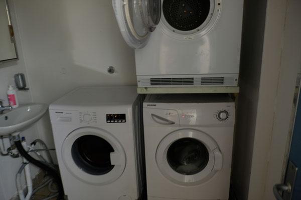 Unsere Waschmaschinen sind meistens gut belegt.