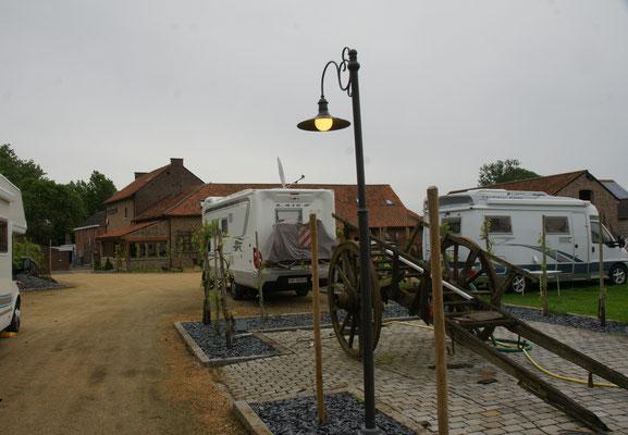 Unser Stellplatz beim Winzer in Schalkhoven