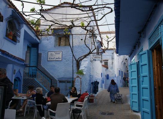 Das Restaurant Assada in den Gassen der Medina von Chefchouan